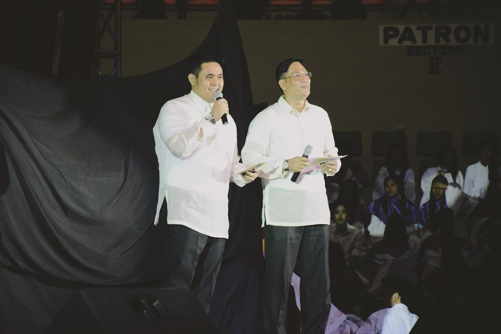 Masters of Ceremonies - (from left) Bro. Cordero and Bro. Miguel